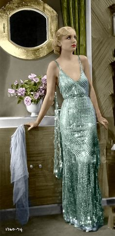 Carole Lombard. Colorized by Luiz Adams.