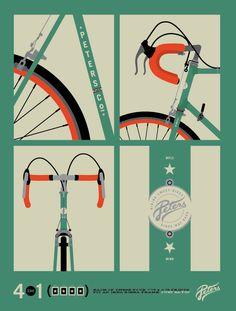 Great bike illustration by Allan Peters