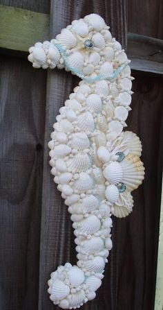 seahorse made of seashells