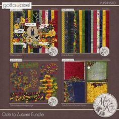 Ode To Autumn Digital Scrapbook Bundle at Gotta Pixel. www.gottapixel.net/