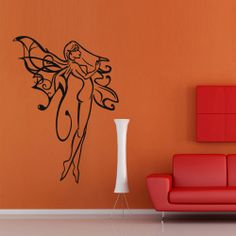 Wall decal decor decals sticker girl butterfly by DecorWallDecals, $28.99