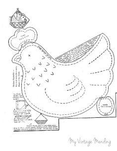 Chicken potholder from My Vintage Mending
