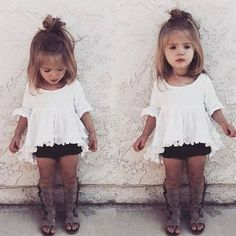 Cute baby girl clothes outfits ideas 68 Cute baby girl clothes outfits ideas 68 - TRENDS U NEED TO K Fashion Kids, Little Girl Fashion, My Little Girl, My Baby Girl, Toddler Fashion, Little Girl Bangs, Latest Fashion, Fashion Women, Winter Fashion