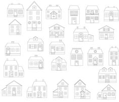 Another pinner wrote  -A plethora of houses  LOVE it when people use great vocabulary!