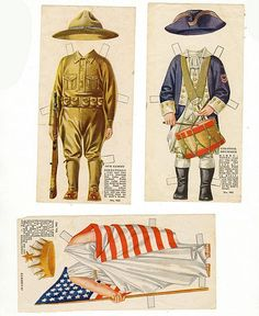 American Colortype Paper Doll Boy & Girl c. Paper Dolls Clothing, Doll Clothes, Paper Art, Paper Crafts, Paper People, Bobe, Up Book, Vintage Paper Dolls, Camping Crafts