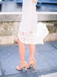 Nude Steve Madden thick heel ankle strap: http://www.stylemepretty.com/destination-weddings/2016/09/22/what-an-anthropologie-writer-wore-for-her-parisian-honeymoon/ Photography: Le Secret D'Audrey - http://www.lesecretdaudrey.com/
