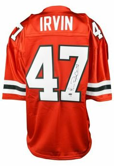 3c3e7e37dc7 Michael Irvin Signed Miami Hurricanes Jersey w/ Playmaker - SM - JSA  Certified…