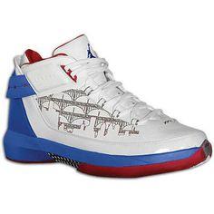 Air Jordan 22 PE Detroit White Varsity Royal Varsity Red Chaussures 317141 102