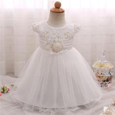 Girl Dress For Baptism Baby Girl Dress New Born Shower Gift Infant Baby Party Frock Design