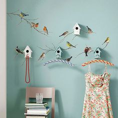 Komar Birds Wall Decal, Multicolor