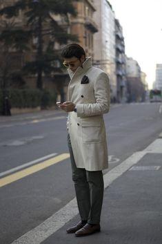 """First picture in Fabio Attanasio's blog post """"MERANO COAT"""". Model: Fabio Attanasio."""