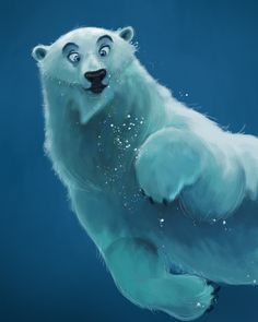 Concept Design Sketches - The Art of David Boudreau #polar #bear #underwater