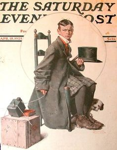 Boy Taking His Self-Portrait    April 18,1925 Saturday Evening Post  Norman Rockwell