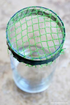 Recycled Flower Arranging Hack using plastic mesh bags from produce! | homeiswheretheboatis.net #DIY