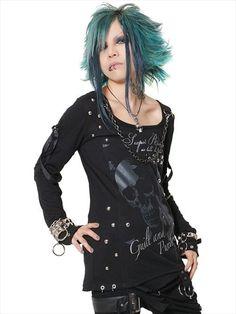 CUSTOM STUDS BONDAGE Cutsew (L) SA068236-001 SEX POT ReVeNGE APPAREL. See more at http://www.cdjapan.co.jp/apparel/ #punk #japanesefashion