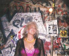 Daina Shukis back stage at CBGB's