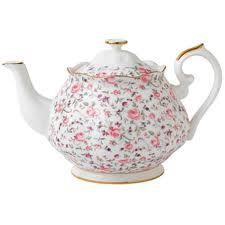 Pink chintz tea pot