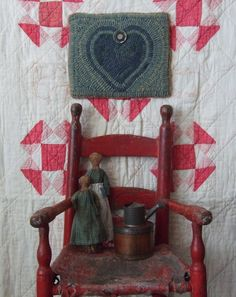 Wonderful Early Chair with Goodies!