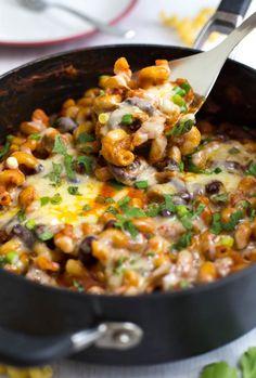 ONE POT VEGETARIAN CHILLI MAC Really nice recipes. Every  Mein Blog: Alles rund um Genuss & Geschmack  Kochen Backen Braten Vorspeisen Mains & Desserts!