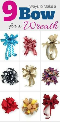 In this free video Im teaching you how to make a bow 9 different ways varying in easy peasy to a little more challenging. But with practice you will be making a bow for wreaths (or garlands mailboxes packages etc.) in no time.Preheat your oven to 275 Wreath Crafts, Diy Wreath, Diy Crafts, Wreath Bows, Wreath Ideas, Wreath Making, Make A Wreath Bow, Making Bows For Wreaths, Ribbon Wreaths