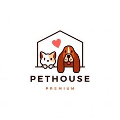 Corgi Cartoon, Kitten Cartoon, Logo Gato, Gatos Vector, Cute Cat Sleeping, Logo Animal, Dog Logo Design, Cute Beagles, Dog Shop