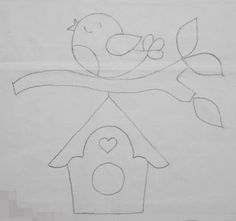 Wool Applique, Applique Patterns, Embroidery Applique, Felt Crafts, Diy And Crafts, Crafts For Kids, Paper Crafts, Bird Template, Butterfly Template