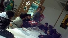 """It's Christmas time..!!"" We made Christmas crafts and we gave gifts.(17/12/2012)"