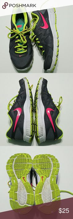 Nike Revolution 2 Good condition!! Has some dirt and scuffs but nothing a washer couldn't haddle! Size 9.5 women, offers welcome!! Offers welcome!! Nike Shoes Sneakers
