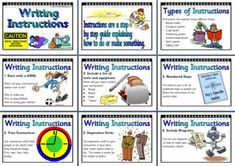 Literacy Resource - Features of Instruction Texts for Writing Display Posters