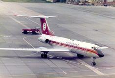 YU-AJA Tupolev Tu-134A-3 cn 1351206 Aviogenex Gatwick 28May79