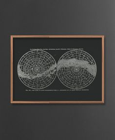 Northern and Southern Hemisphere  Poster. Andromeda by ILKADesign