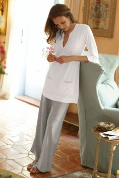 Everyday Lounge Pant I - Relaxed Casual Pant, Pants, Clothing | Soft Surroundings and the tunic http://www.softsurroundings.com/detail.php?parentid=24580=2