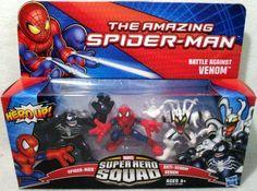 Amazing SpiderMan Super Hero Squad 3Pack Battle Against Venom SpiderMan, AntiVenom Venom by Hasbro, http://www.amazon.com/dp/B0083K11KC/ref=cm_sw_r_pi_dp_XBSYqb0YE5NYE