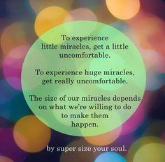 Huge risks = huge miracles.