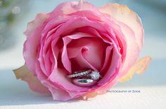 flower ring shot up close wedding