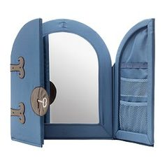 Good to know For the safety of your child the mirror is made of inpact-resistant soft plastic.  Looking at yourself in the mirror strengthens the body image. Touch-and-close fastening makes it easy to open & close doors.