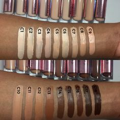 Makeup Revolution Conceal and Define concealer swatches
