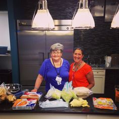 Our Thursday Kitchen Coordinators, Sue and Lisa, who are always making delicious food for our families!