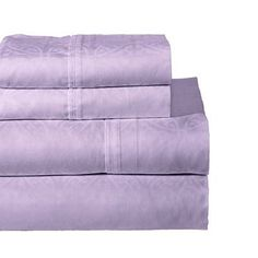 Pointehaven 300 Thread Count Cotton Sheet Set Size: California King, Color: Lavender