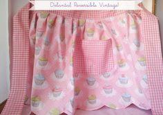 Delantal Vintage!!, Complementos, Delantales, Comida y bebida, Repostería, Vintage, Ropa