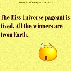 The Miss Universe pageant is ……..  #Humor #LOL #Funny
