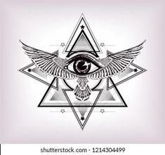 Third Eye Tattoos, All Seeing Eye Tattoo, Chest Piece Tattoos, Chest Tattoo, Egyptian Symbols, Egyptian Art, Tattoo Sketches, Tattoo Drawings, Horus Tattoo