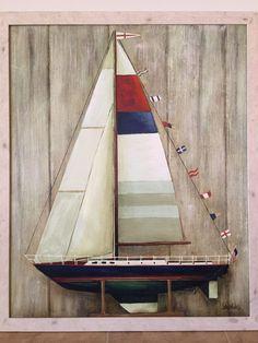 Lee Reynolds Signed Large Original Oil Painting On Canvas Still Life Sailboat  | eBay