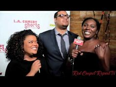We couldn't stop laughing #RedCarpetReport's @Linda Antwi talks to @yvette nicole @CedricYarbrough http://ht.ly/jUed3 #LAComedyShorts
