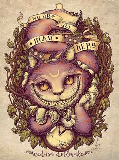 """Cheshire Cat""  By: medusa-dollmaker.deviantart"