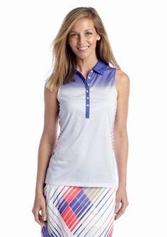 PGA TOUR  Stripe Print Polo