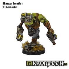 This set contains one Skargut Ironfist - notorious orc commander with bionic arm replacement. He is best suited to lead fast moving orc assault squads and share the same style as our Orc Running Bodies.