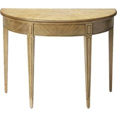 Matched Veneer Driftwood Demilune Console Table - Overstock™ Shopping - Great Deals on Butler Coffee, Sofa & End Tables Sofa End Tables, Entryway Tables, Console Table, Demilune Table, Consoles, Half Round Table, Moon Table, Luis Xvi, Cube Table
