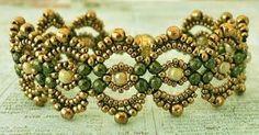 Linda's Crafty Inspirations: Free Beading Tutorial: Lovely Lace Bracelet by Fiorella Pegoraro
