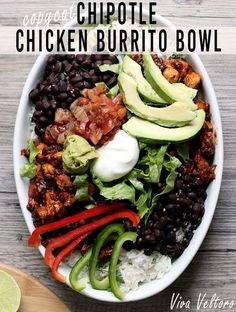 This copycat Chipotle burrito bowl recipe may be better than the real thing!